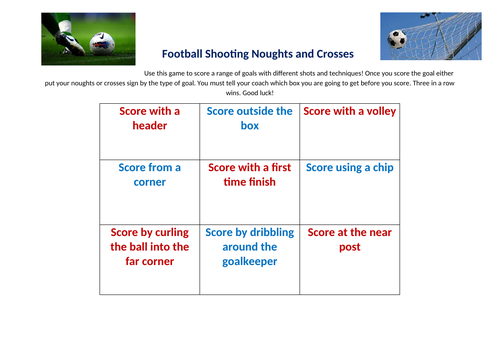 Football Shooting Game and Drill