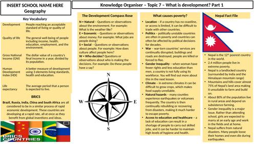 What is development? Knowledge Organiser