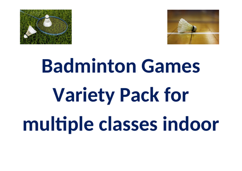 Badminton Games Pack
