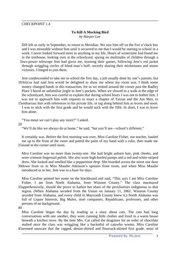Year 9 IGCSE English Comprehension 2