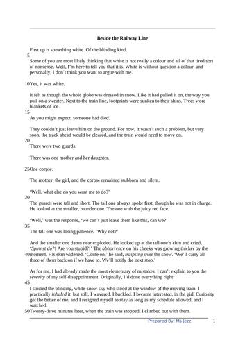 Year 9 IGCSE English Comprehension 4