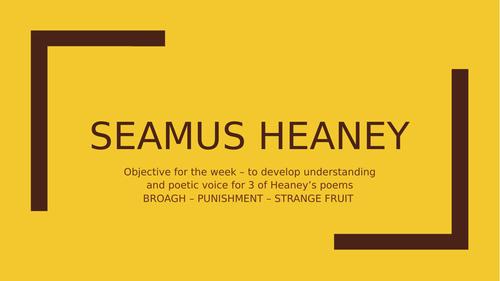 Seamus Heaney - 3 full Bog poem lessons