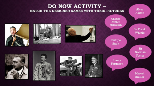 Famous Designers Starter Activity
