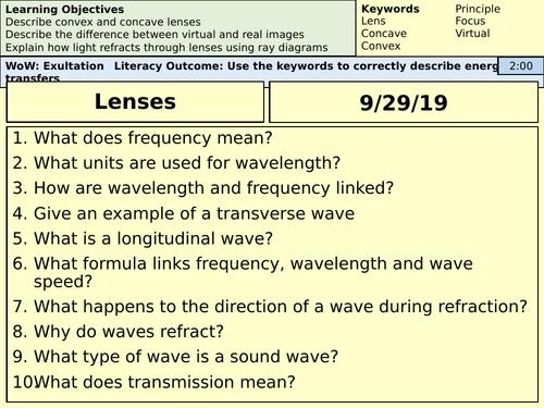 GCSE Physics Lenses - AQA Physics - Whole Lesson