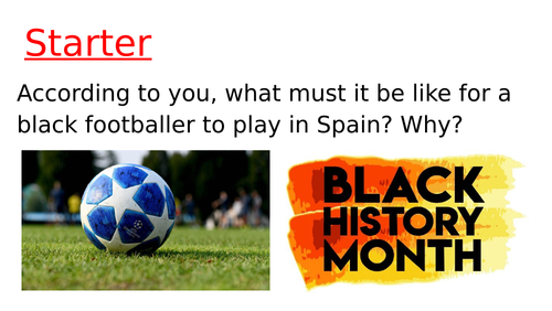 Black History Month - Racism in football