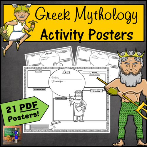 Greek Mythology Activity Posters