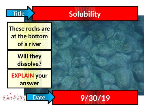 Solubility - Acitvate