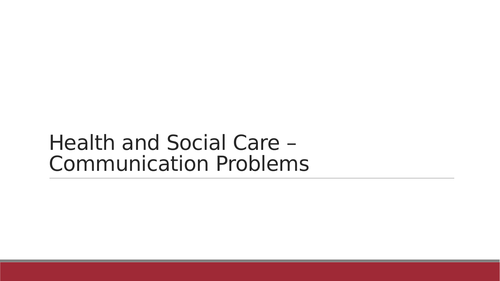 Health and Social Care/Psychology/Childcare - several powerpoints