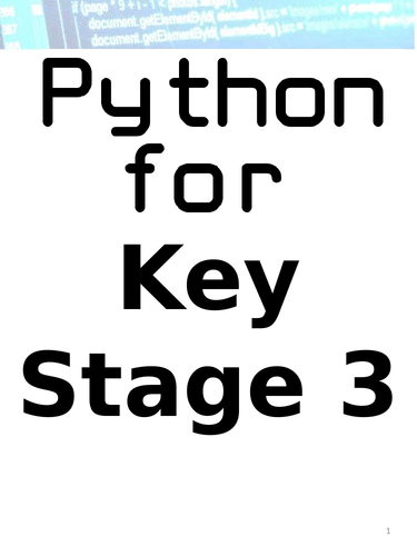Python Tasks for KS3 (If you have my KS4 Version don't buy this one!!!)