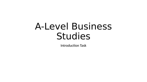 AQA A-Level Business Project - Airline Task