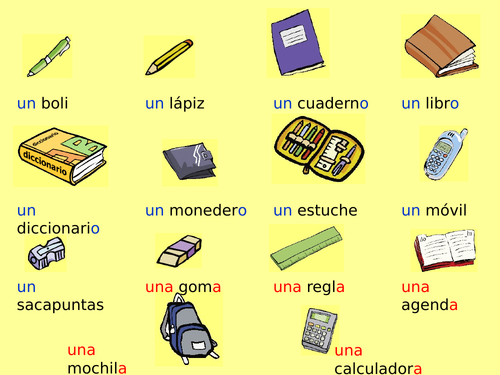 En clase (Spanish, beginners)