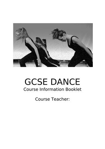Year 8 GCSE Dance Option Booklet