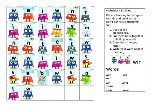 Alphablocks: Word Build 'w'
