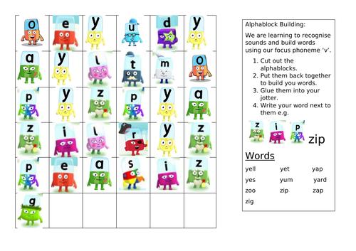 Alphablocks: Word Build 'y and z'