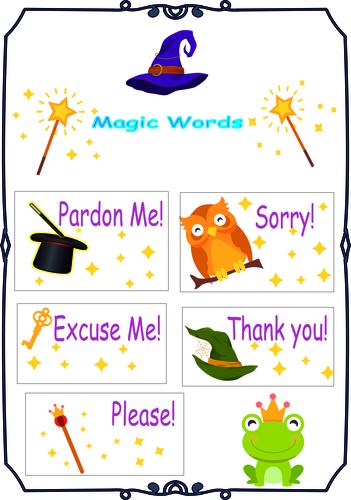 Magic Words (Printable)