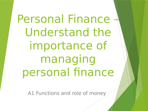 Function and role of money