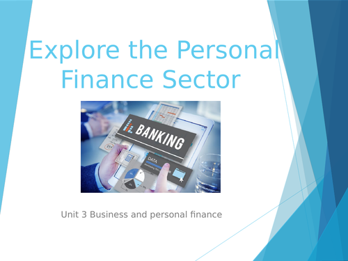 Exploring personal finance sector