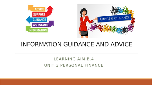 Information guidance and advice