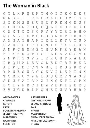 The Woman in Black Word Search