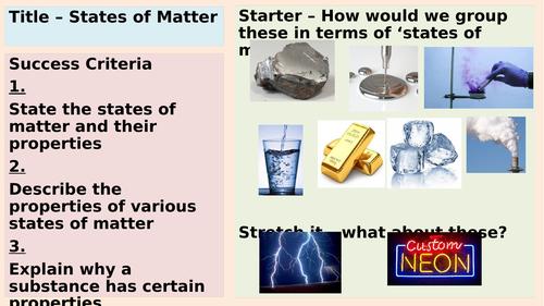 AQA States of Matter