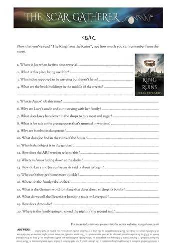 Quiz to accompany WW2 class reader