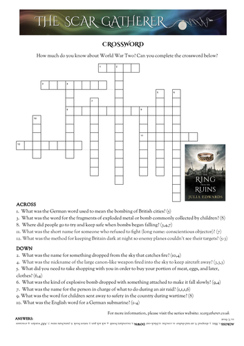 WW2 crossword and word search