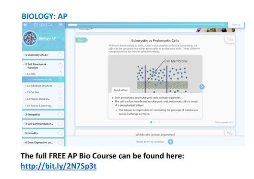 AP Biology Study Guide & Homework Tool - New Course Description (Fall 2019)