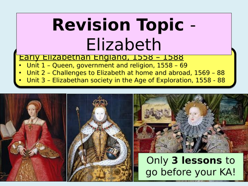 Elizabethan England - Key Topic 1 (Revision lesson) - Edexcel GCSE History
