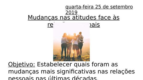 Mudanças nas atitudes pessoais - FULL LESSON - Theme 1 Portuguese ALevel