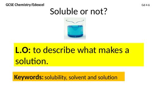 Edexcel GCSE solubility lesson Gd 4-6