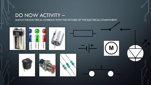 Electrical Systems Starter Activity