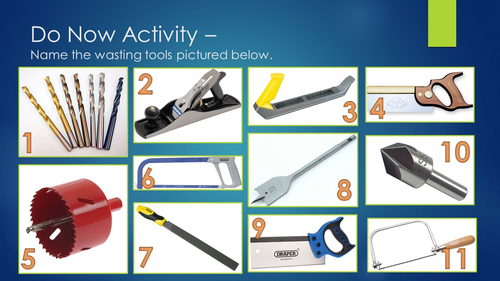 Wasting Tools Starter Activity