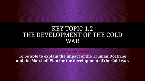 The Development of the Cold War 4 lessons