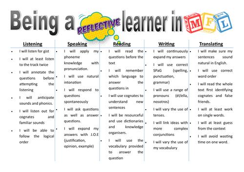 Reflective learner MFL