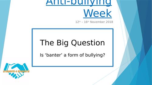 Banter or Bullying PSHE Lesson