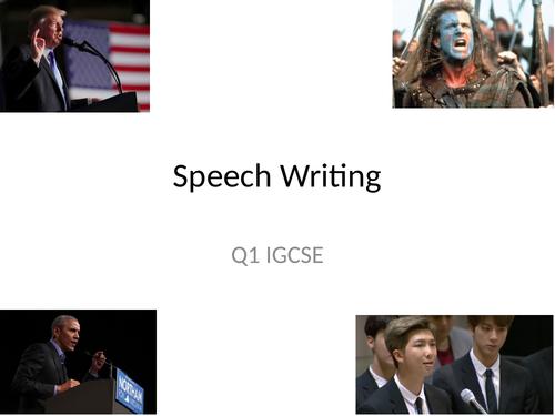 Speech Writing IGCSE 0500