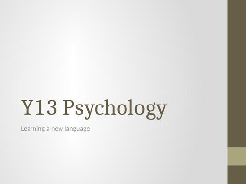 Language Acquisition IAL Psychology