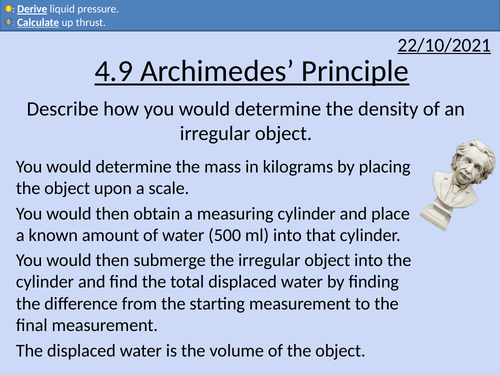 OCR AS level Physics: Archimedes' Principle