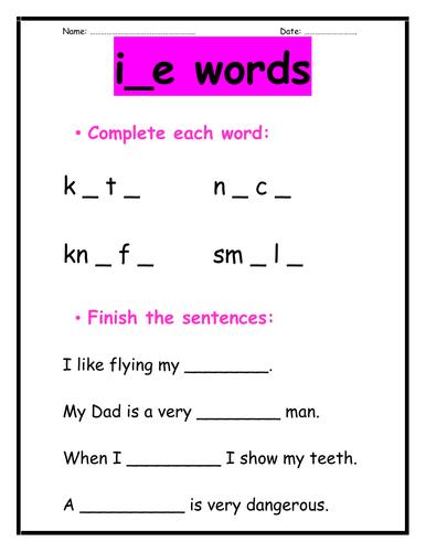 i_e words