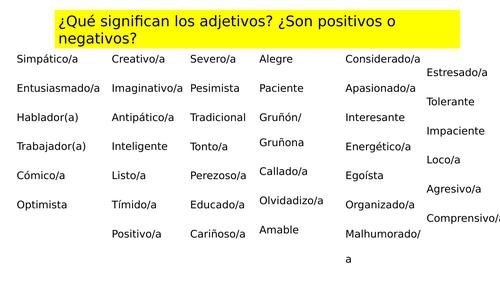 GCSE Spanish - Los Profesores