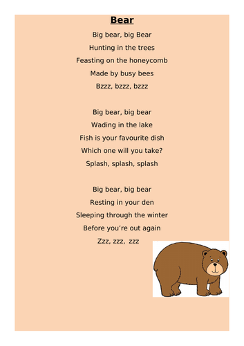 We're Going on a Bear Hunt - Year 1 English Planning 10 Day Unit Michael Rosen
