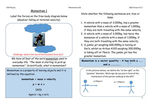 AQA Physics Forces - Momentum 4.5.7 (HT)