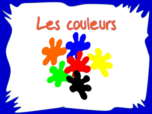 Les couleurs - The colours in French