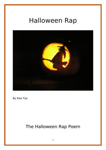 Year 5/6 Halloween Reading Comprehension - Halloween Rap Poem.