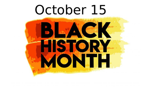 Black History Month - Little things are big