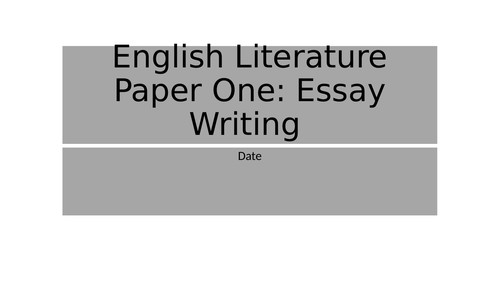 Jekyll and Hyde - Introduction to essay writing