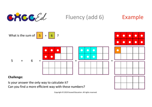 Fluency: Bridging (add 6 with Numicon)