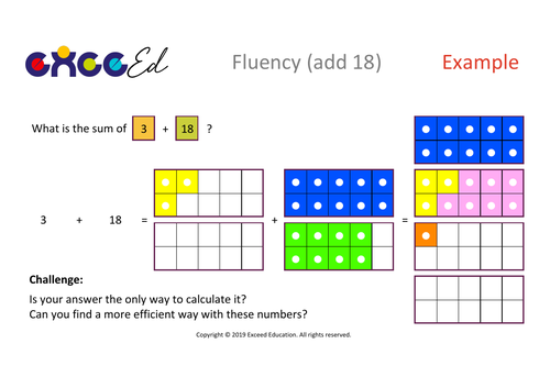 Fluency: Bridging (add 18 with Numicon)