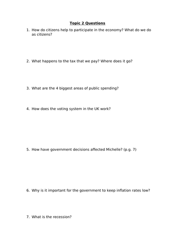 LIBF Level 2 Topic Questions