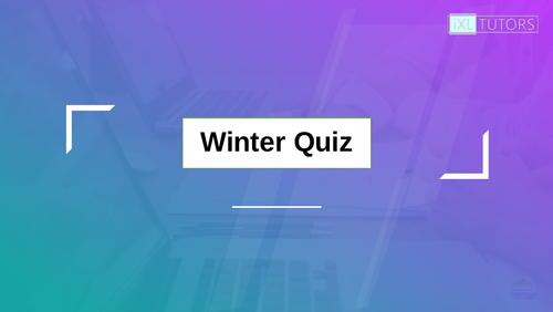 End of 2019 Quiz